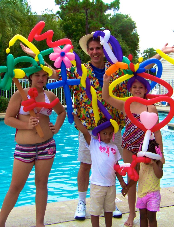 Balloons Pool Side - Best in Orlando from Stilt Fun